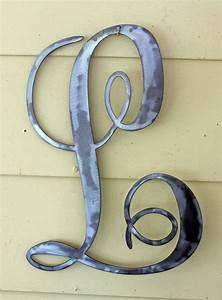 metal letter quotlquot in script With metal script letters