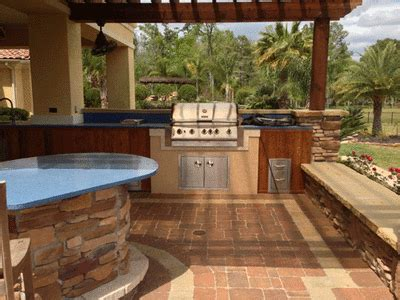 backyard grill south elite landscape concrete outdoor kitchen bbq island