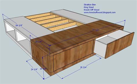 diy king size platform bed storage quick woodworking king