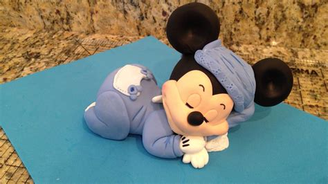 mickey mouse sleeping cake topper complete tutorial