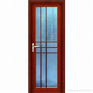 Ash Wood Glass Panel Door Hpd451 - Glass Panel Doors - Al