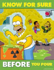 Know_For_Sure_Before_You_Pour_Simpsons_Chemical_Safety_Poster Chemical Safety