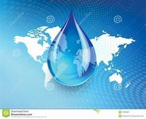 Global Water Shortage Graphic Design Stock Illustration ...