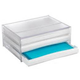 4 drawer desktop paper organizer the container store