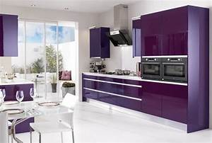 15 high gloss kitchen designs in bold color choices home With kitchen cabinet trends 2018 combined with violet wall art