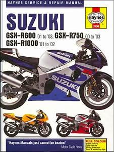 Suzuki Gsxr600  Gsxr750  Gsxr1000 Repair Manual 2000-2003
