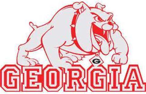 georgia bulldog mascot signtorch turning images  vector cut paths