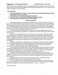 The Thesis Statement Of An Essay Must Be Autobiography Example Essay For Colleges Compare And Contrast Essay Topics For High School also Causes Of The English Civil War Essay Autobiography Example Essay Ethical Issue Essay Bibliography Format  Essay Paper Topics