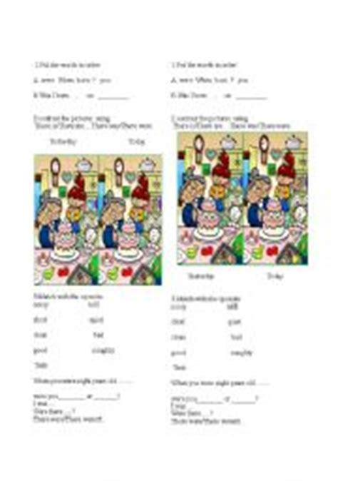 worksheets compare simple present and simple past