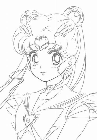 Sailor Moon Coloring Pages Anime Fan Manga