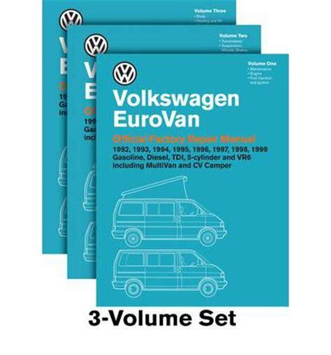 free car repair manuals 1995 volkswagen eurovan free book repair manuals volkswagen eurovan official factory repair manual 1992 1999 sagin workshop car manuals repair