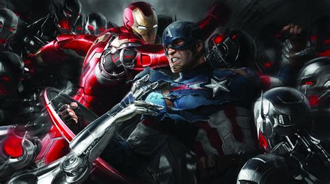 wallpaper iron man captain america civil war concept