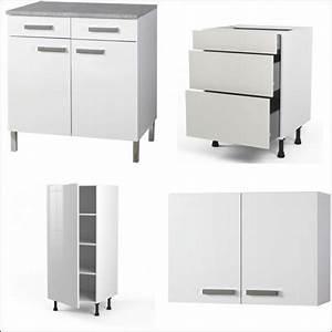 Meuble Cuisine Blanc : meubles blanc cuisine les prix avec le guide d 39 achat kibodio ~ Edinachiropracticcenter.com Idées de Décoration