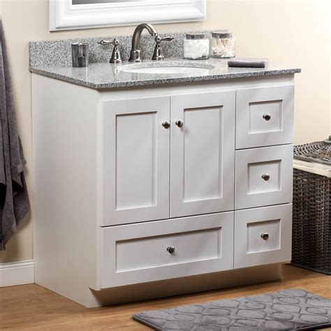 Restroom Vanity Cabinets by Strasser 01 132 2 Simplicity 36in Satin White Four Drawer