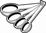 Measuring Cup Spoon Clipart Pages Colouring Clip Library sketch template