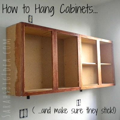best way to hang kitchen cabinets best 25 how to hang cabinets ideas on how to 9236