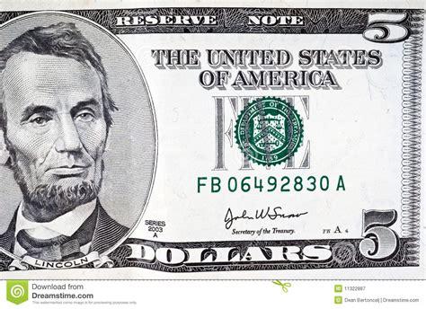 Five Dollar Bill Stock Image Image Of Texture, Bank