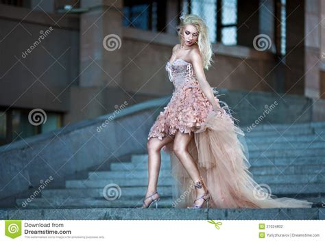 Beautiful Woman In Luxury Wedding Dress Stock Photography