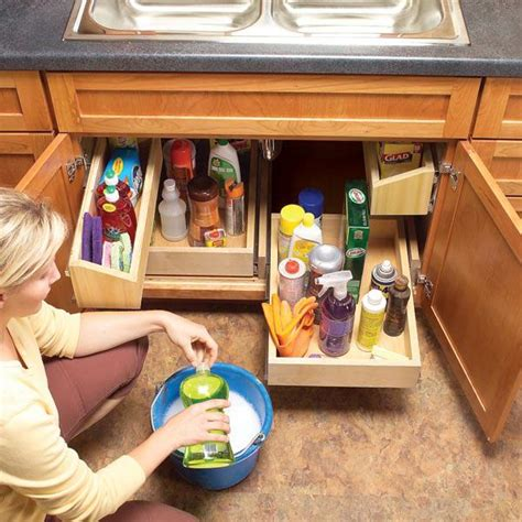 how to cut out a kitchen sink how to build kitchen sink storage trays home design