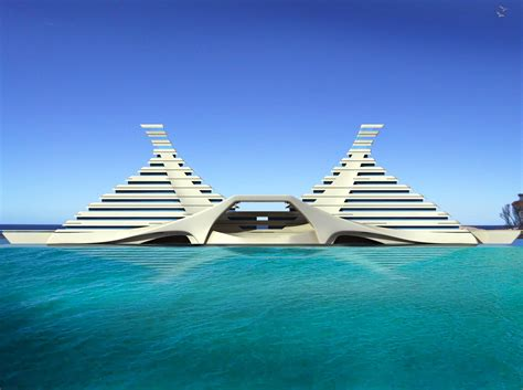 Floating White Pyramid Architecture wallpaper