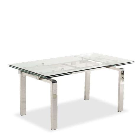 table de cuisine extensible table design en verre extensible tanina 4 pieds tables