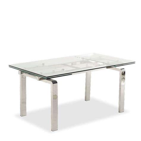 table de cuisine extensible table design en verre extensible tanina 4 pieds tables