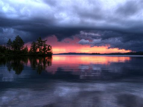 Storm clouds at sunset free image