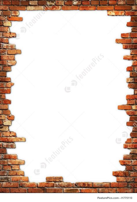 templates brick wall grungy frame stock image