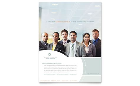 business consulting flyer template word publisher
