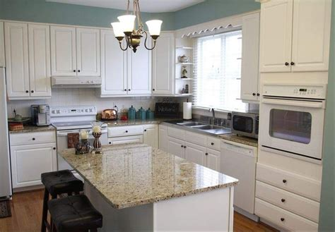 kitchens with white appliances white cabinets and