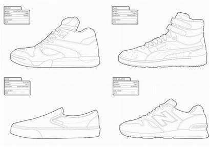 Vans Coloring Shoe Shoes Sneakers Pages Sneaker