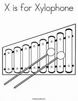 Glockenspiel Coloring Template Xylophone sketch template