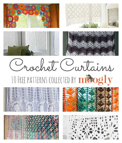 Free Drapery Patterns by 10 Free Crochet Curtain Patterns Collection By Moogly