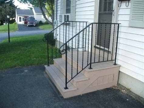 Exterior Wrought Iron Stair Railings Home Depot Interior
