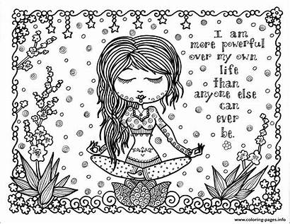Coloring Positive Adult Pages Thought Printable