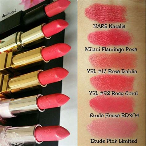 sharing swatches coral pink lipsticks earlier