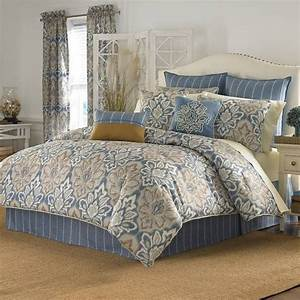 Blue, Matching, Bedding, And, Curtains