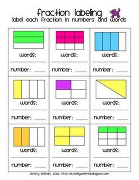 Parts Of A Fraction Worksheet  Equal Parts Fractions Worksheetsfree Printable Fraction