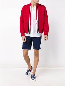 Gucci Web Trim Track Jacket in Red for Men | Lyst