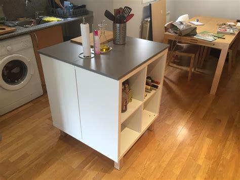 meuble cuisine ilot fabriquer un ilot de cuisine avec meuble ikea table de lit