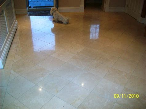Marble Tiled Hallway Cleaned and Polished in Farnborough