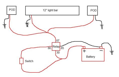Wiring Diagram For Relay Light Bar by Led Light Bar Wiring Question Jeep Forum