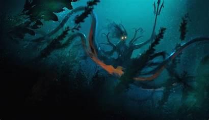 Dark Fantasy Underwater Sea Monster Wallpapers Creepy