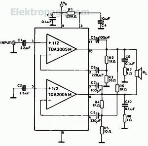 20w Bridged Amplifier With Tda2005m Pinout And Connection