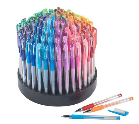 coloring set 100 gel pens with rotating organizer assorted coloring