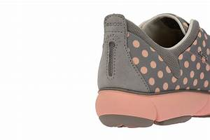 Geox Nebula C Sneakers in hellgrau rosa Damen Slipper