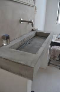who makes the best kitchen faucets concrete bathroom sinks that make a strong statement without any fuss