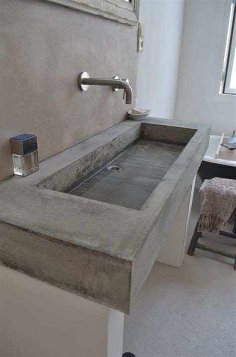 bathroom vanity concrete bathroom sinks that make a strong statement Concrete