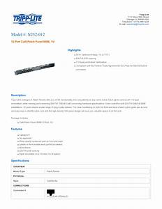 12-port Cat6 Patch Panel N252-012 Manuals