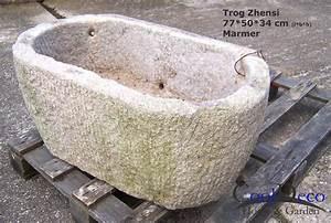 Waschbecken Für Draußen : waschbecken f r drau en steintrog zhensi marmor gartendeko ~ Frokenaadalensverden.com Haus und Dekorationen